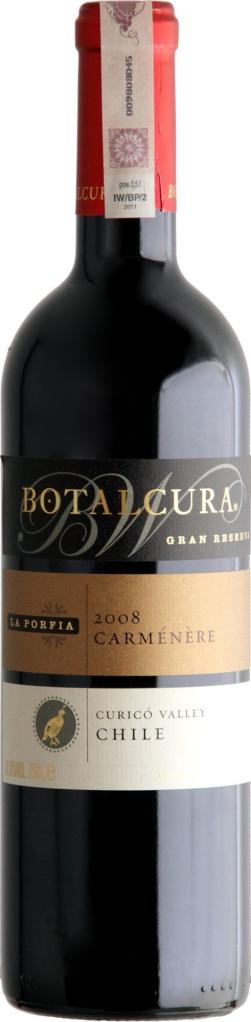 Wino Botalcura La Porfia Carménère Grand Reserve Curicó Valley