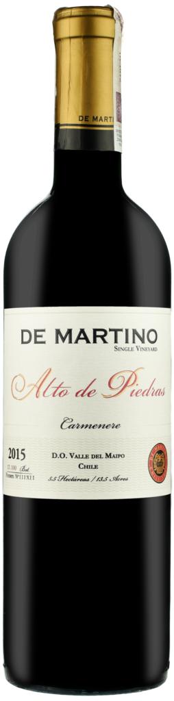 Wino De Martino Carmenère Alto de Piedras SV Maipo Valley 2017