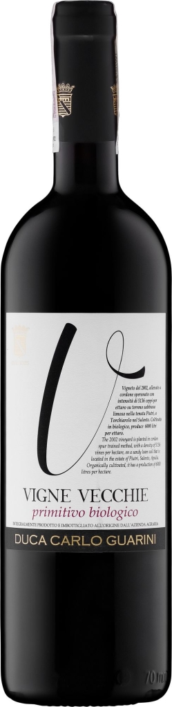 Wino Duca C. Guarini Vigne Vecchie Primitivo Salento IGT 2016