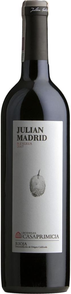 Wino Casa Primicia Julián Madrid Reserva Rioja DOCa 2015