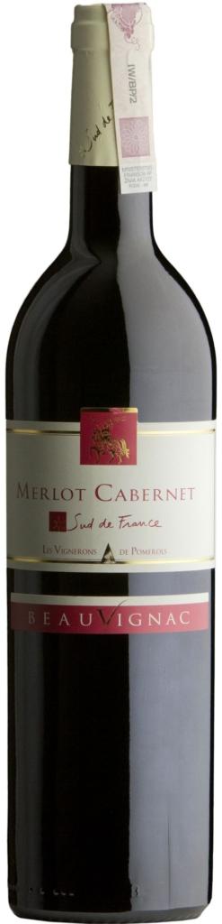 Wino Costières de Pomérols Beauvignac Merlot-Cabernet Sauvignon Pays d'Oc IGP