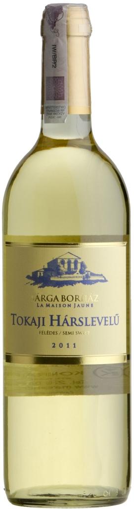 Wino Sarga Borhaz Semi Sweet Hárslevelü Tokaj