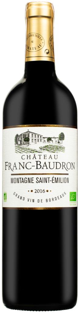Wino Chateau Franc Baudron Montagne Saint Emilion AOC 2016