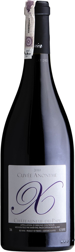 Wino Xavier Cuvee Anonym Châteauneuf du Pape AOC 2016