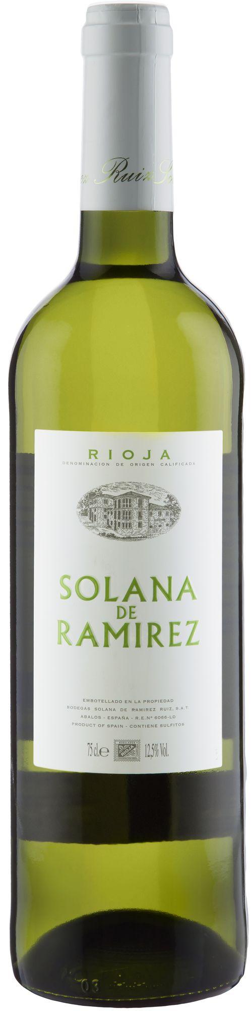 Wino Solana Ramirez Blanco Joven Rioja DOCa