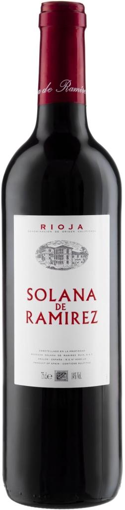 Wino Solana Ramirez Tinto Joven Rioja DOCa