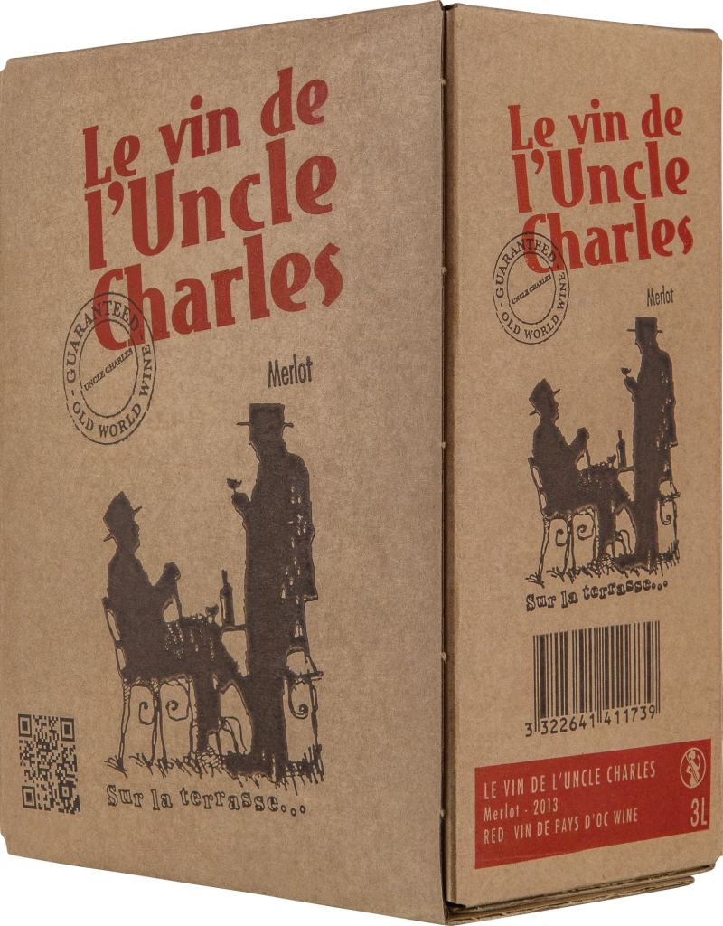 Wino Bag-in-Box: Flaugergues Le Vin de l'Uncle Charles Pays d'Oc IGP