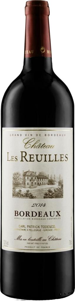 Wino Château Les Reuilles Rouge Bordeaux AOC 2017