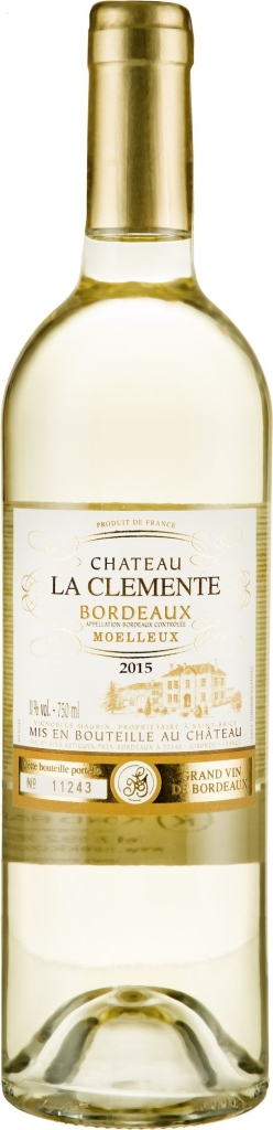 Wino La Clémente Moelleux Bordeaux AOC 2017