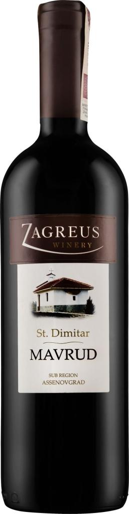 Wino Zagreus St. Dimitar Mavrud 2015