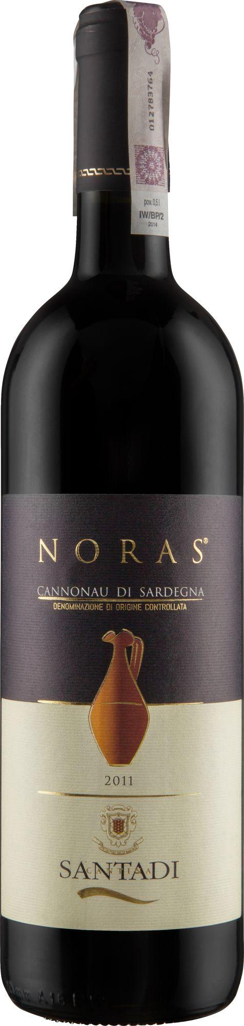 Wino Santadi Noras Cannonau di Sardegna DOC