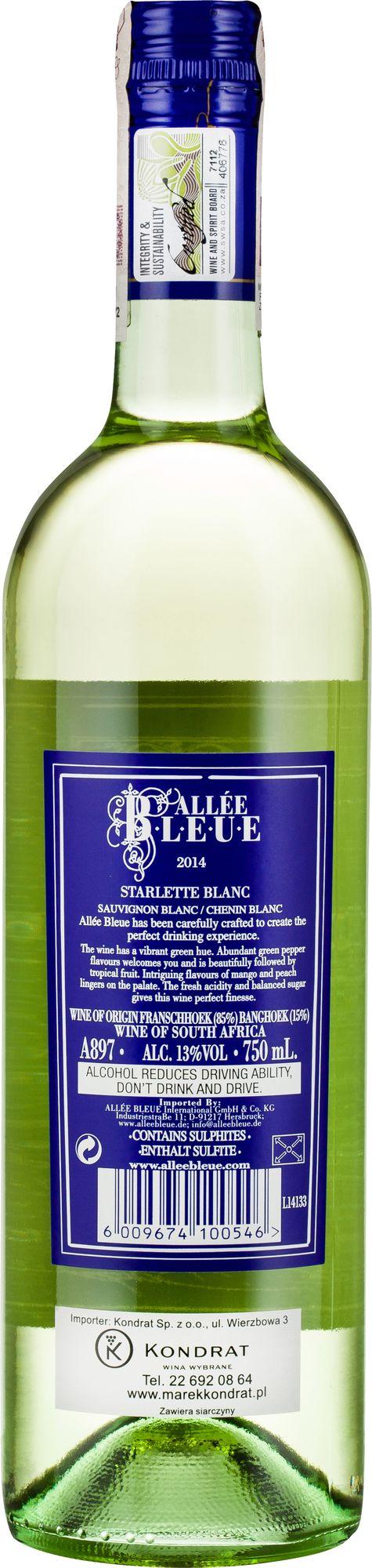 Wino Allée Bleue Starlette Blanc