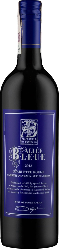 Wino Allée Bleue Starlette Rouge Franschhoek WO