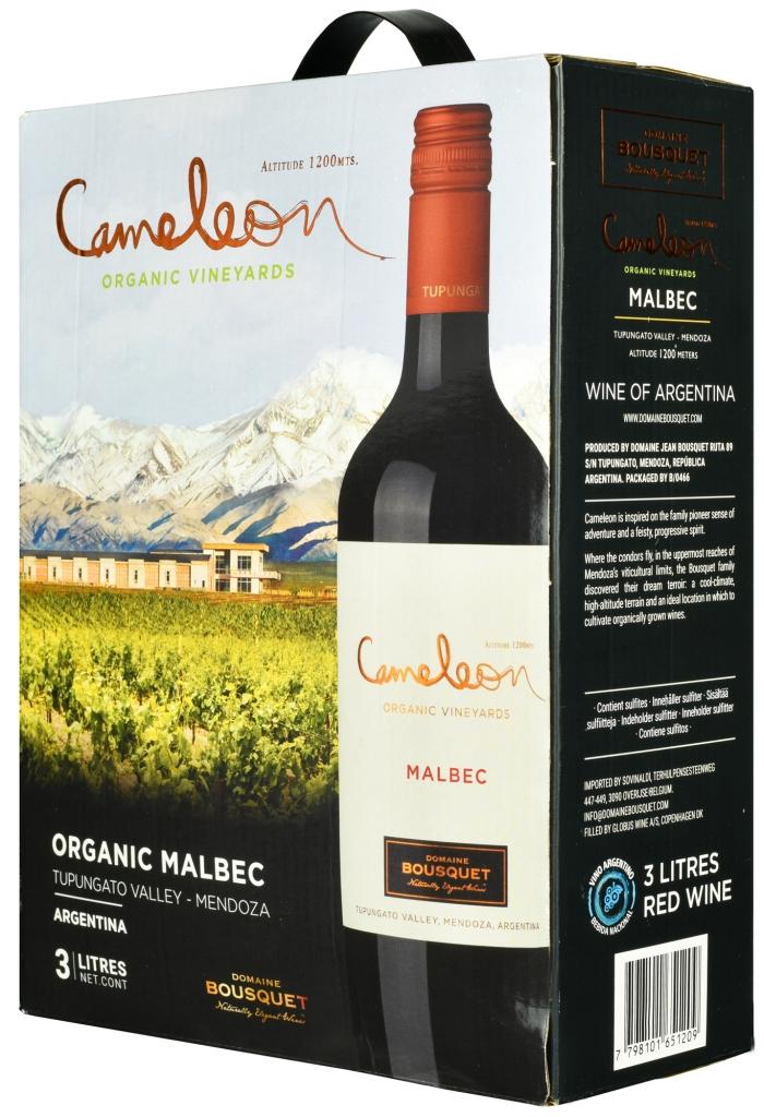 Wino Bag-in-Box: Domaine Bousquet Cameleon Malbec Mendoza Tupungato 2020 3 l