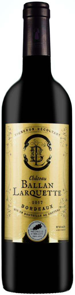 Wino Château Ballan-Larquette Rouge Bordeaux AC 2017