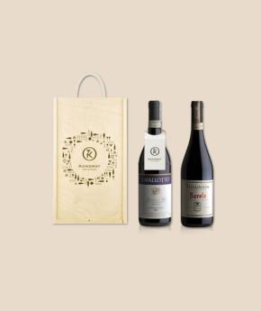 Wina z Piemontu w skrzynce