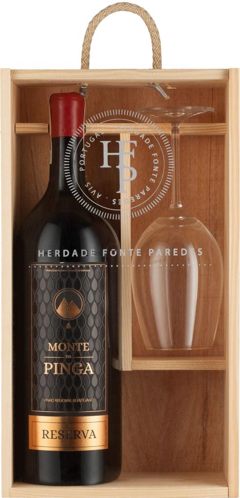 Wino Monte da Pinga Reserva 1,5 l w skrzynce + kieliszek