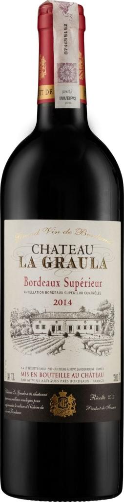 Wino Château La Graula Bordeaux Superieur AC 2015