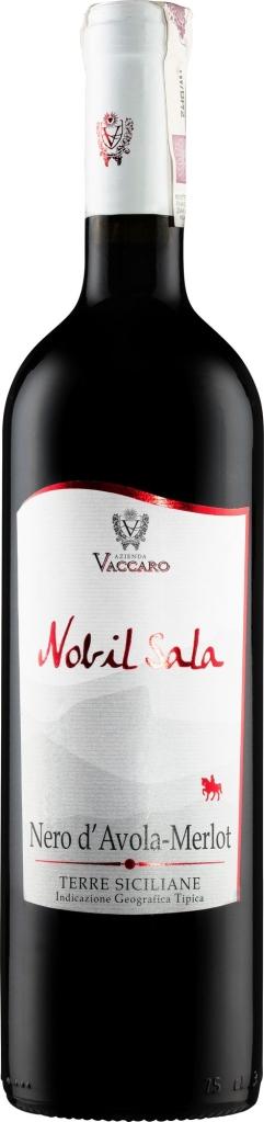 Wino Vaccaro Nobil Sala Nero d'Avola Merlot Sicilia IGT