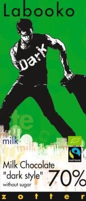 "Zotter Labooko czekolada Milk Chocolate ""Dark Style"" 70% (70 g)"