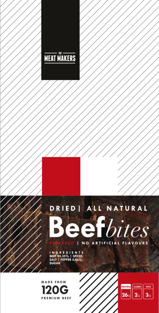 The Meat Makers kęski wołowiny z pieprzem (40 g)
