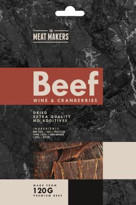 The Meat Makers suszona wołowina z winem i żurawiną (40 g)