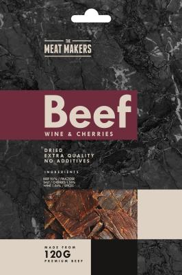 The Meat Makers suszona wołowina z winem i wiśniami (40 g)