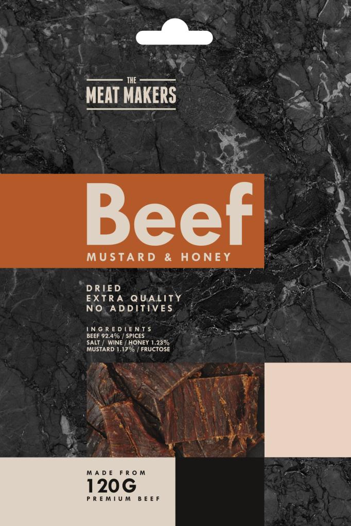 The Meat Makers suszona wołowina z musztardą i miodem (40 g)