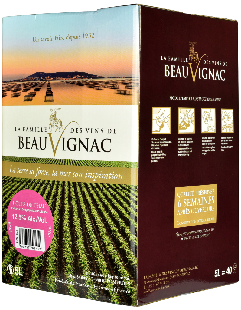 Wino Bag-in-Box: Saveurs de Pomerols Rosé Pays de Thau IGP 5 l