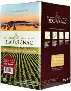 Bag-in-Box: Saveurs de Pomerols Rouge Pays de l'Herault IGP 5 l