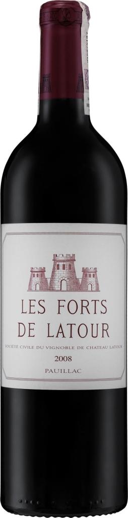 Wino Les Forts de Latour Pauillac AC 2008