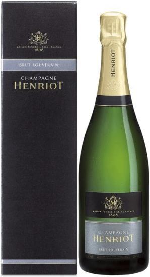 Wino Henriot Souverain Brut Champagne AC w ozdobnym opakowaniu
