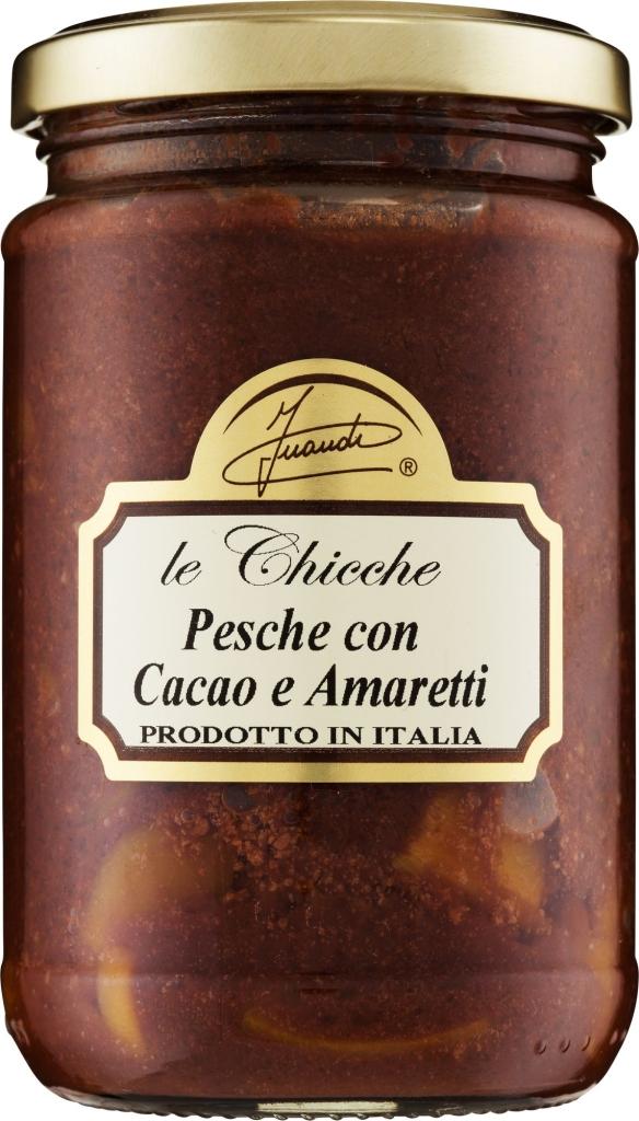 Inaudi brzoskwinie z kakao i ciasteczkami migdałowymi amaretti (290g)