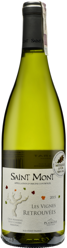 Wino Plaimont Les Vignes Retrouvées Blanc Saint-Mont AOC 2017