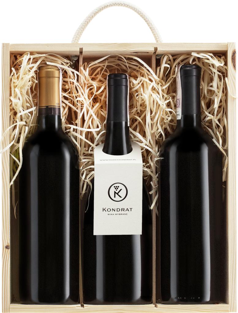 Wina z Bordeaux w skrzynce