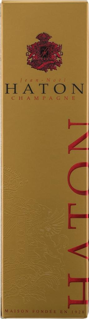 Wino Haton Brut Rose Champagne AC w pudełku ozdobnym