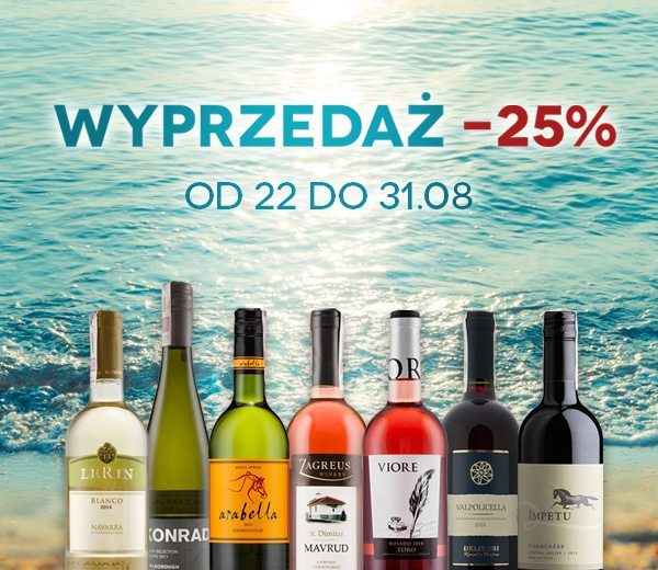 WYPRZEDAŻ! Wina o25% taniej!