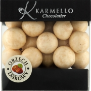 Karmello orzech laskowy w białej czekoladzie (200 g)
