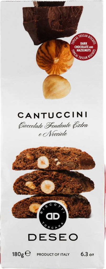 Ciasteczka Deseo cantuccini zgorzką czekoladąi orzechamilaskowymi(180 g)