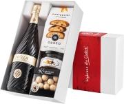 """Pudełko prezentowe """"Owocowa przyjemność"""" z winem Bisol Invilla Prosecco DOC"""