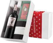 """Pudełko świąteczne """"Czekoladowa wariacja"""" z winem Riojanas Viore Tinto Joven"""