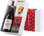"""Pudełko świąteczne """"Pyszny migdał"""" z winem Giusti Ripasso Valpolicella Superiore DOC"""