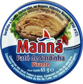 Pikantna pasta z sardynek Manná (65 g)