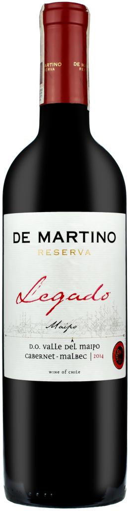 Wino De Martino Legado Cabernet-Malbec Maipo Valley 2014
