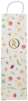 Torebka papierowa z motywami kwiatowymi