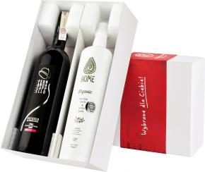 Pudełko prezentowe: wino i oliwa