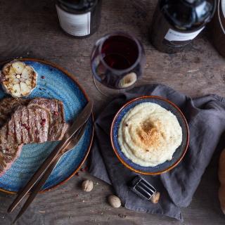 Stek wołowy zpuree. Przepis na jesień