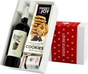 """Pudełko świąteczne """"O aronio!"""" z winem Basket Case Shiraz"""