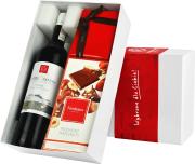 """Pudełko prezentowe """"Cud pralina"""" z winem Campolargo"""