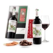 """Pudełko świąteczne """"Czekoladowa wariacja"""" z winem Volver Tarima Organico"""
